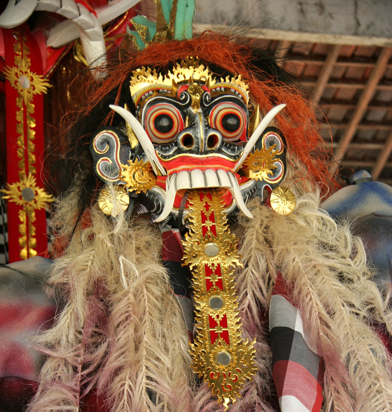Mask for Nyepi Holiday Day of Silence the most peaceful spiritual New Year Celebration in Bali