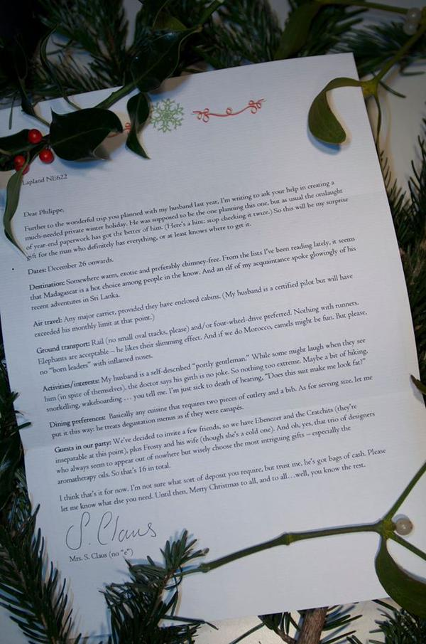 Letter between fir branches Where to go on Christmas holiday