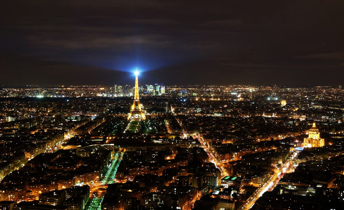Eiffel tower Paris by night fantastic lights to experience all around the world