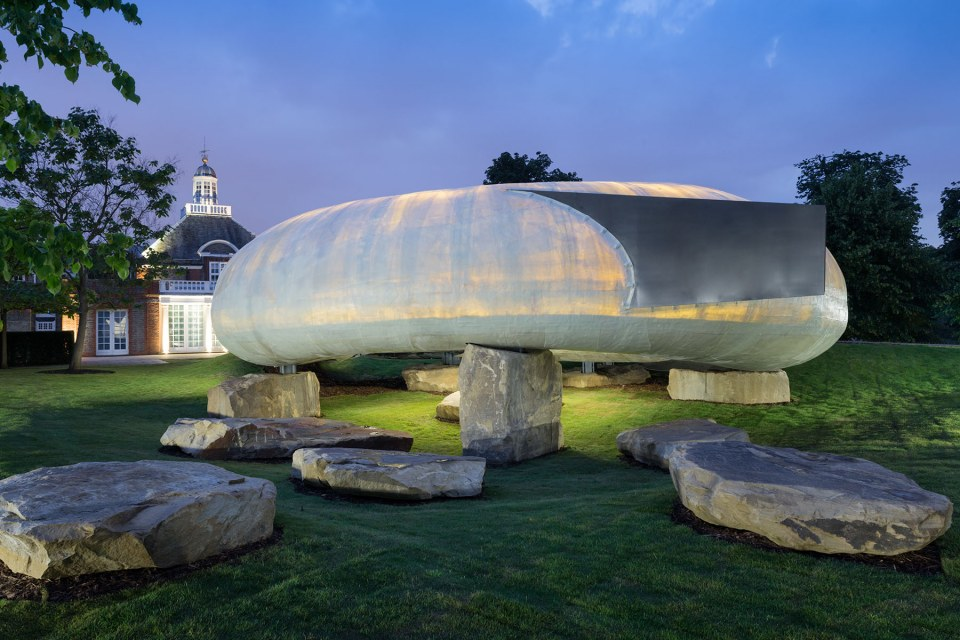 Serpentine Gallery in Kensington Gardens temporary summer pavilion by leading architects