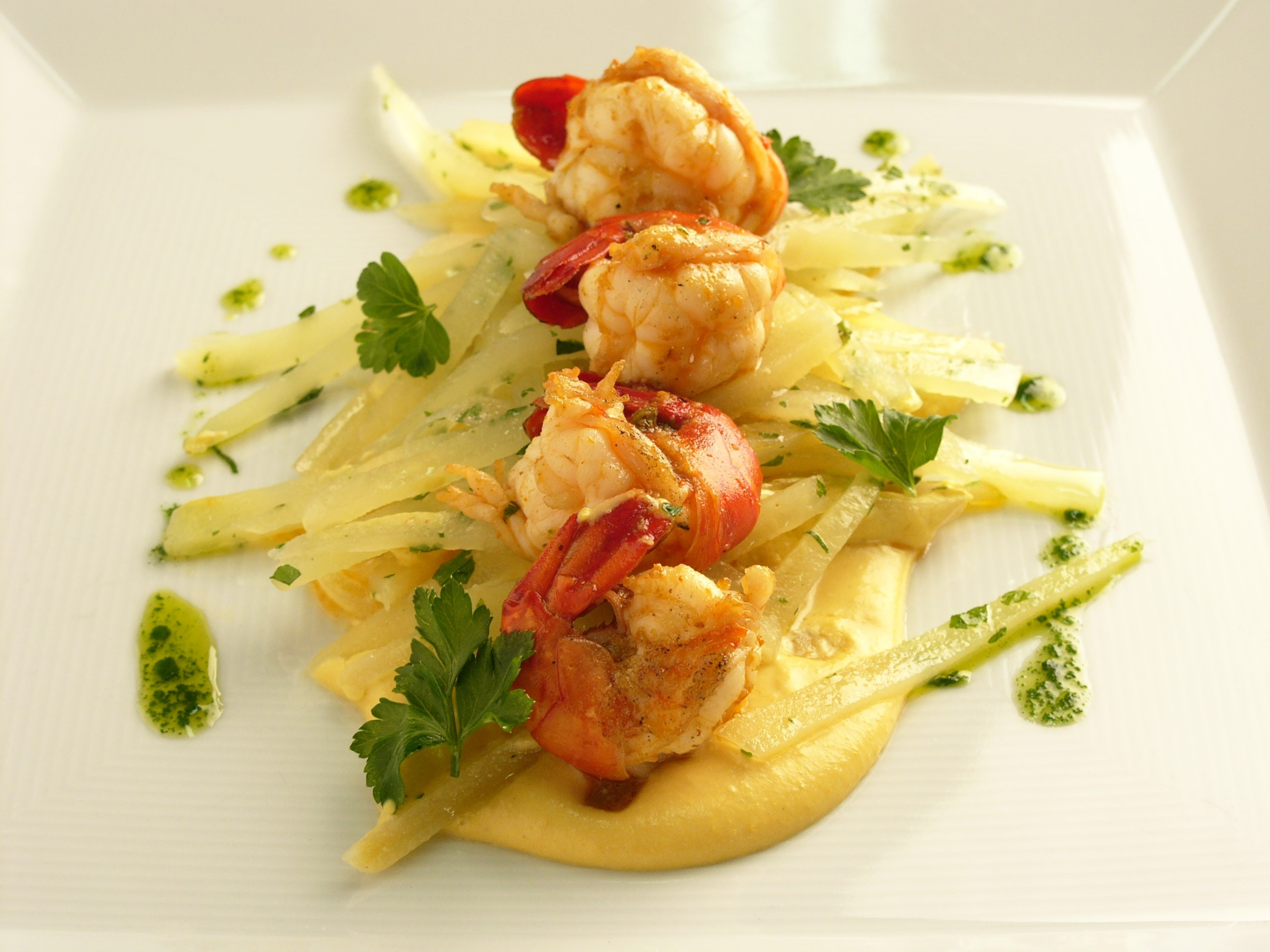 Peruvian shrimps with Huancaina sauce enjoy new food on every journey