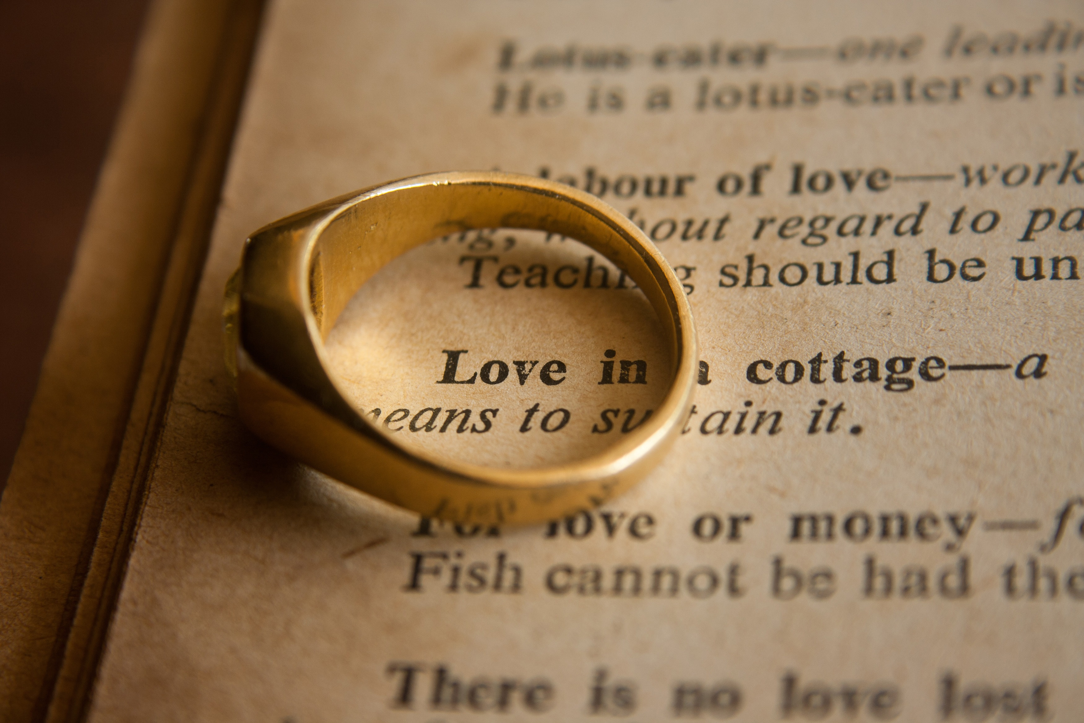 A ring and love letter for Valentine's day or Friend's Day an alternative journey