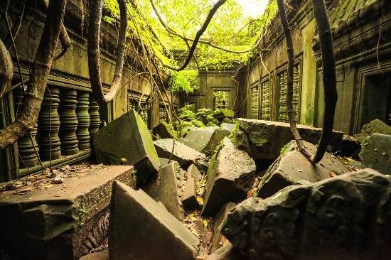 Temple of Beng Mealea in the jungle of Cambodia on the ancient royal highway