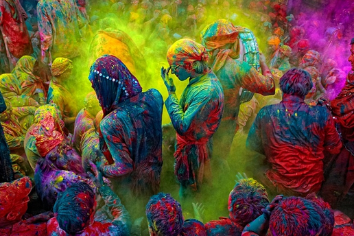 Holi Festival of Colours India ancient Hindu religious festival celebrating colour joy and love