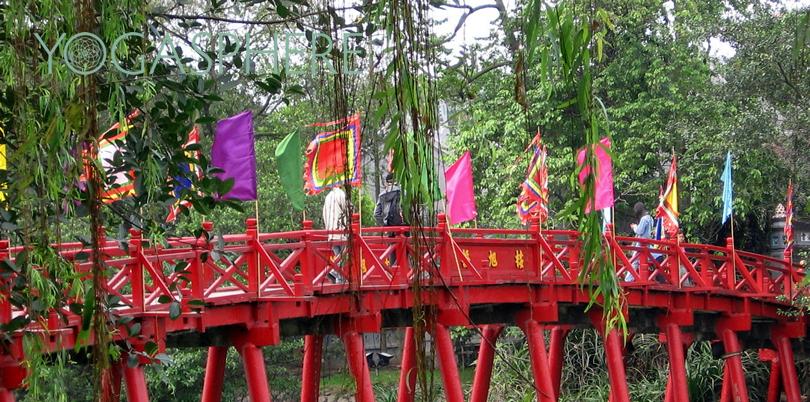 Huc bridge in Hanoi
