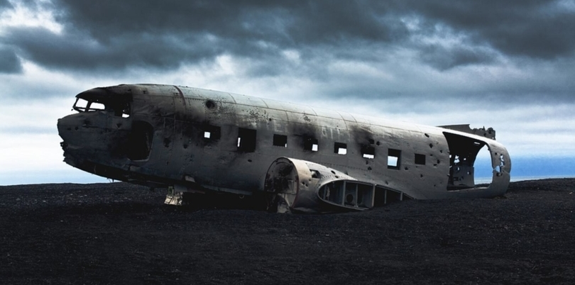 Plane wreck, Iceland