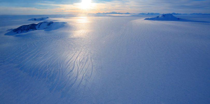 Flight over the ice, Antarctica