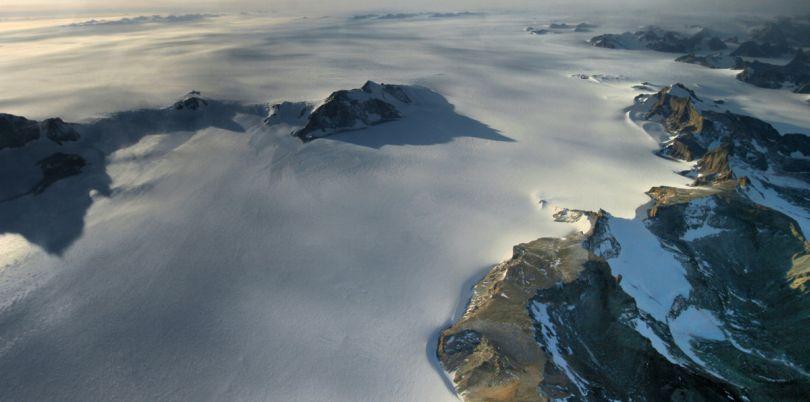 Flight over the mountains, Antarctica