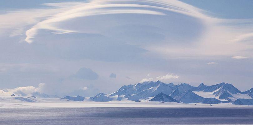 Mountain landscape, in Antarctica