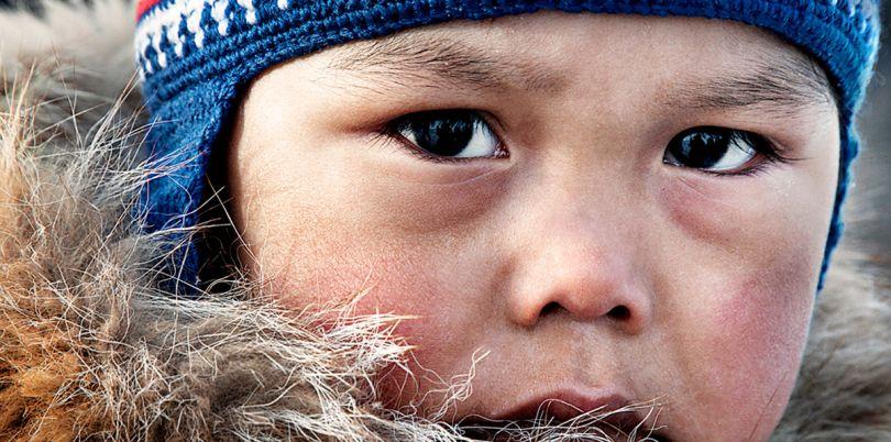 Child in Igloolik, Nunavut, Arctic