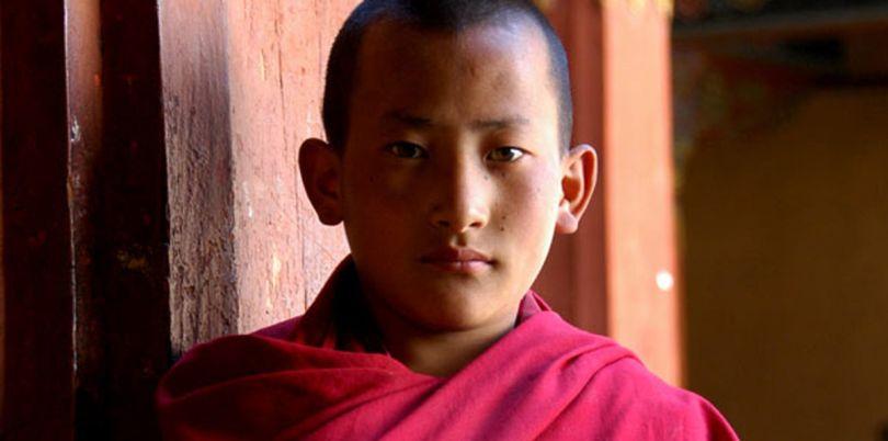 Young Bhutanese monk, Bhutan