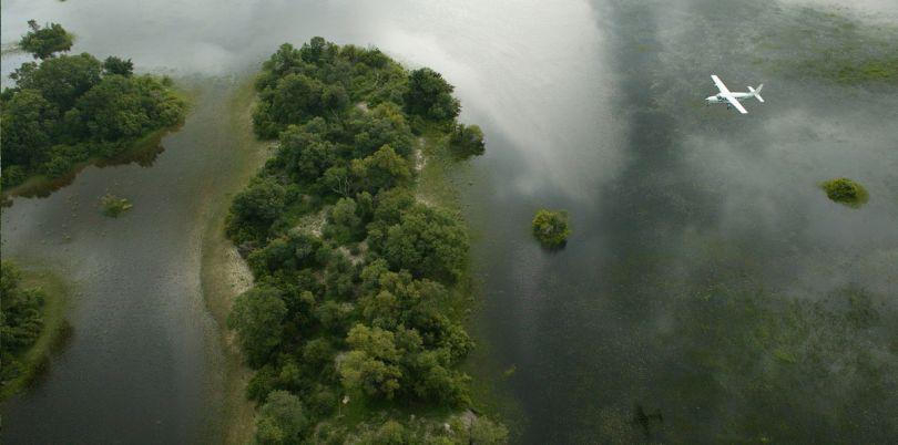 Charter flight over the Okavango Delta