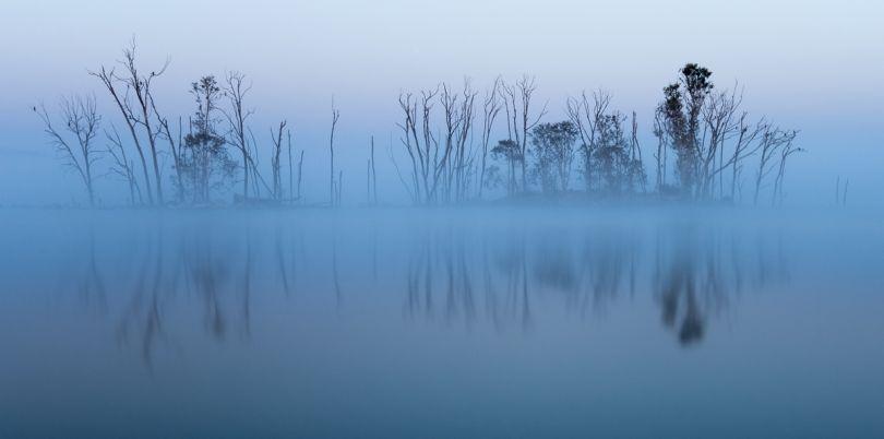 Misty panorama in Botswana