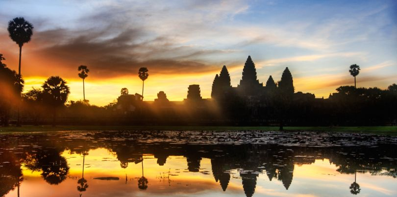 Sunset at Angkor Wat, Cambodia