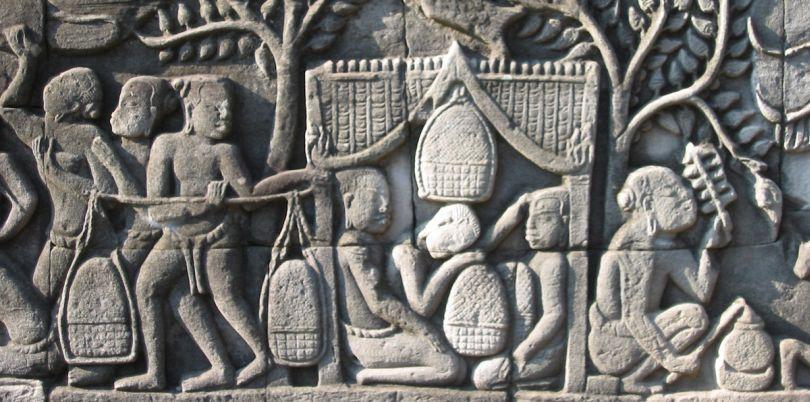 Bas relief, Bayon, Cambodia