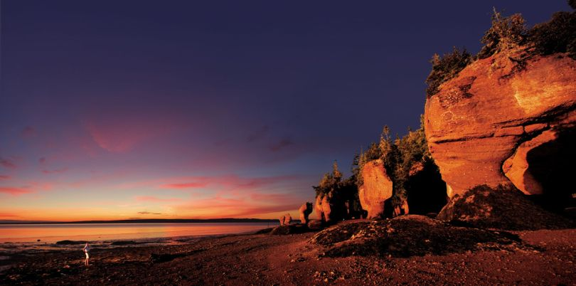 Sunset on the rocky Canadian coast