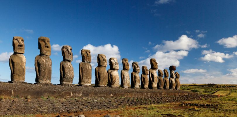 Suclptures of Easter Island, Chile