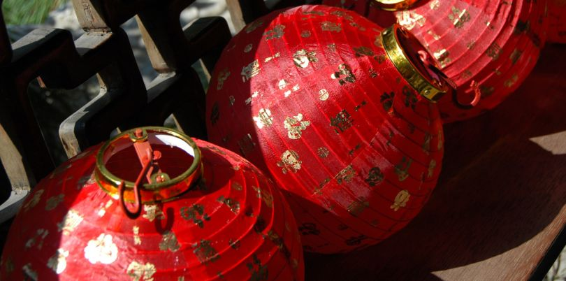 Chinese red lanterns, China