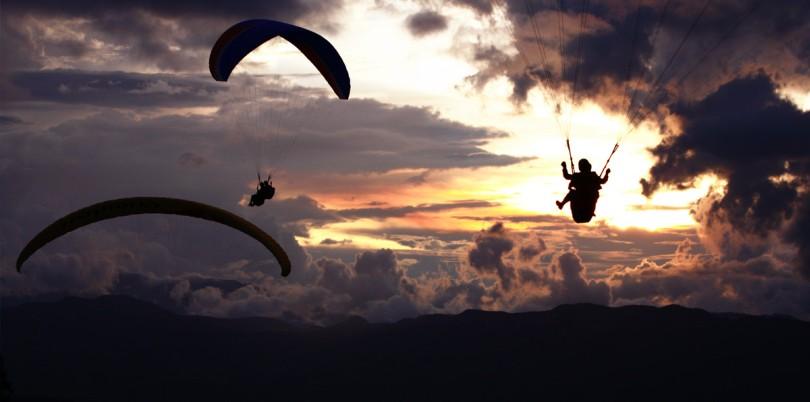 Sunset Paragliding in Aventura Santander Parapente Columbia