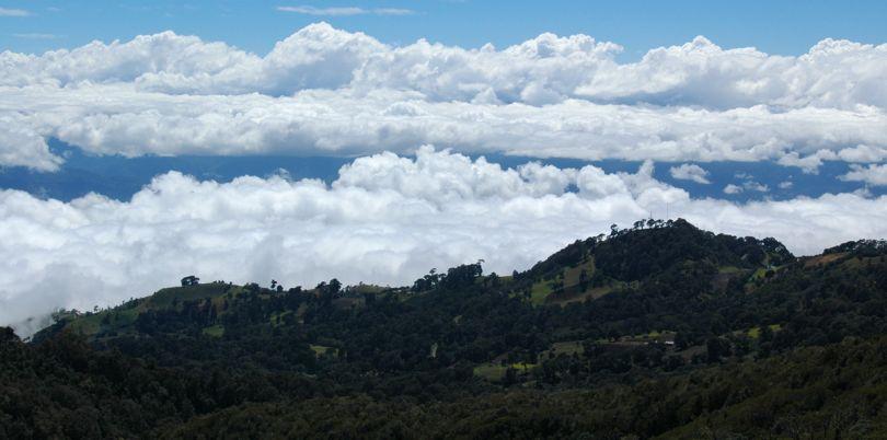 Volcan Irazu landscape in Costa Rica