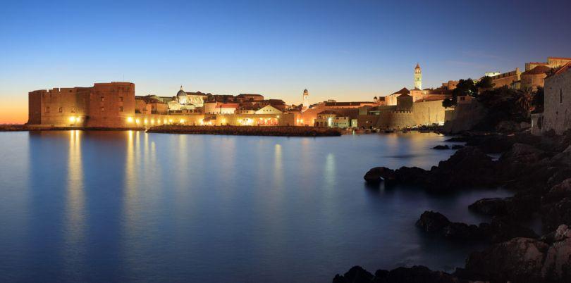 Coast at nighttime in Croatia