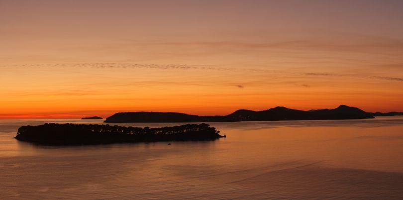Islands in the sunset, Croatia