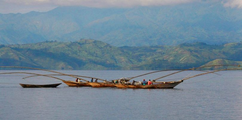 Fishing in the Congo River, Democratic Republic of Congo