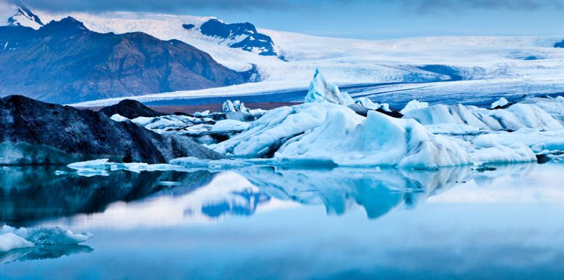 Blue ice in Iceland