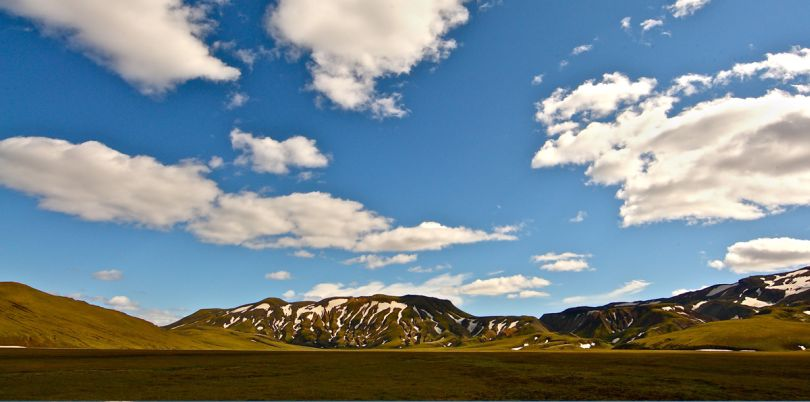 Mountains on a sunny day, Iceland