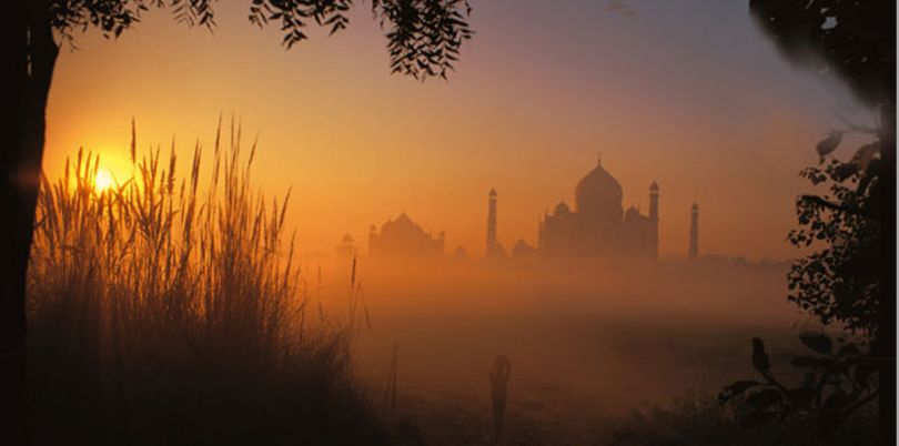 Oberoi Taj at sunset in Agra, India