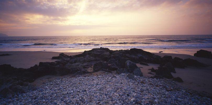 Costal sunset in Ireland