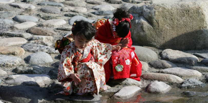 Geisha children in Japan