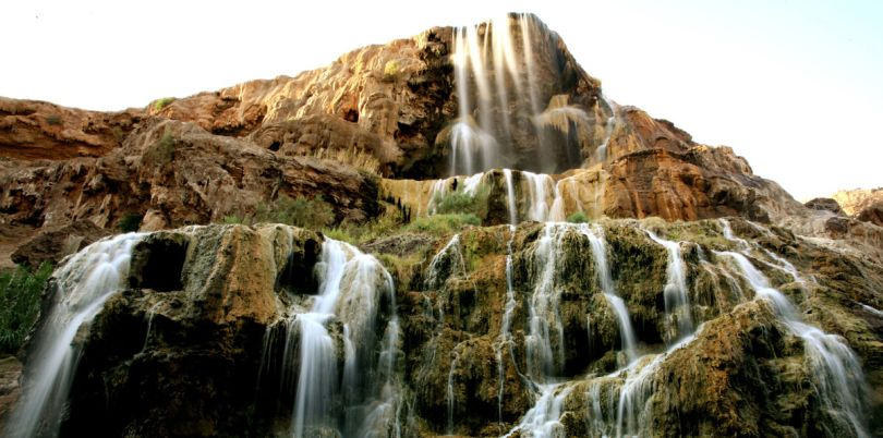 Hot springs waterfall, Jordan