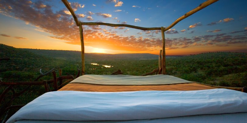 Star bed in Kenya overlooking an amazing view in Kenya