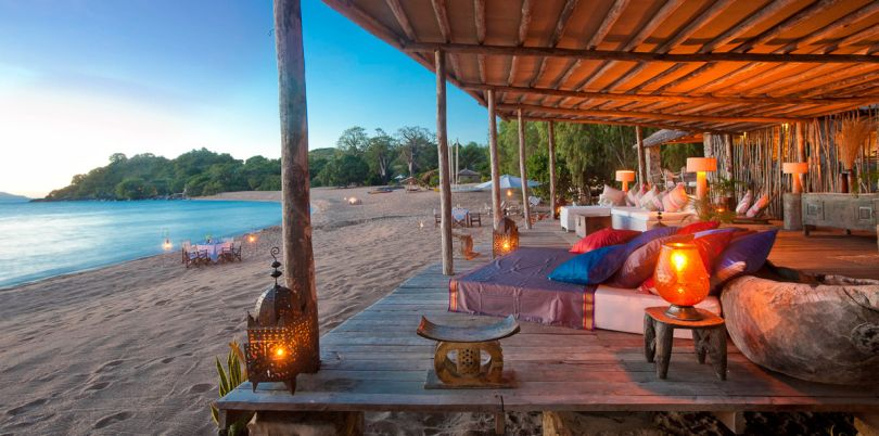 Lounge at the beach, Malawi