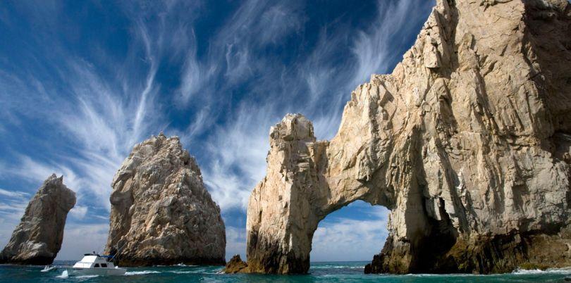 Rocks on the coastline, Mexico
