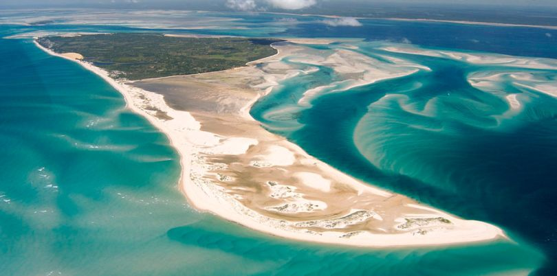 Benguerra Lodge, North point, Aerial view, Mozambique