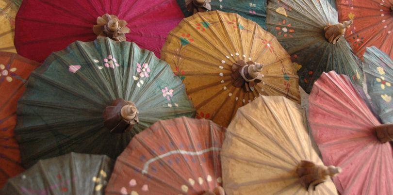 Paper parasols, Myanmanr