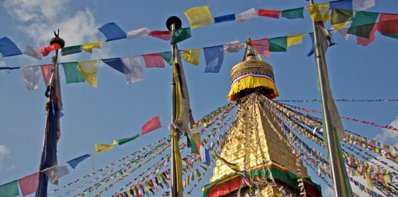 Prayer flags at Bodhnath Stupa, Nepal