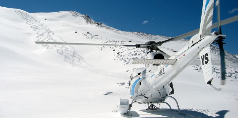 Heli-skiing in New Zealand