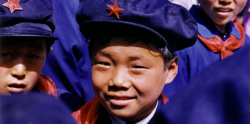 Boy and Red Star Hat, North Korea