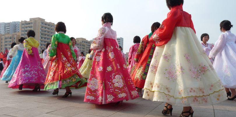 Mass dance, North Korea