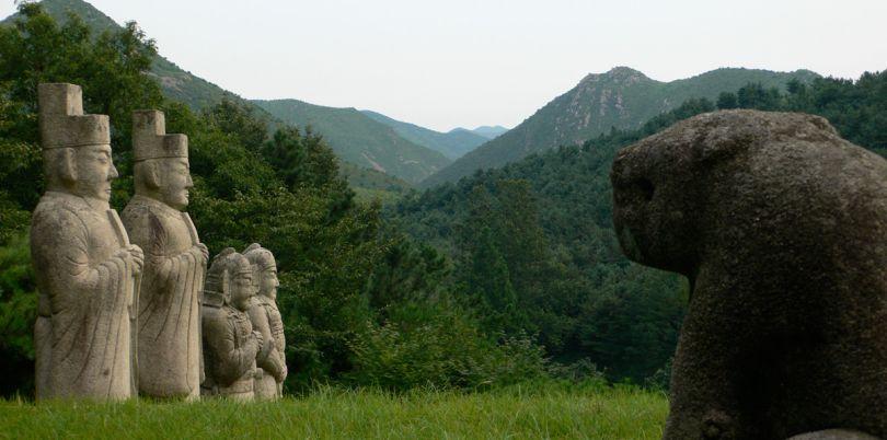 Tomb of King Kongmin near Kaesong, North Korea