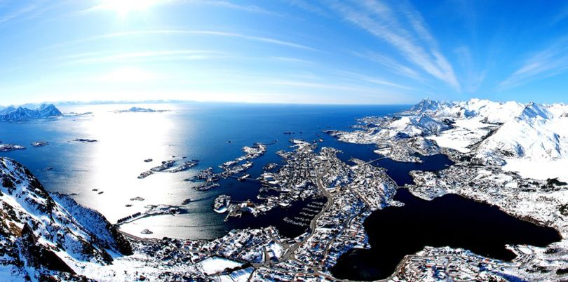 Panoramic across the sea, Norway