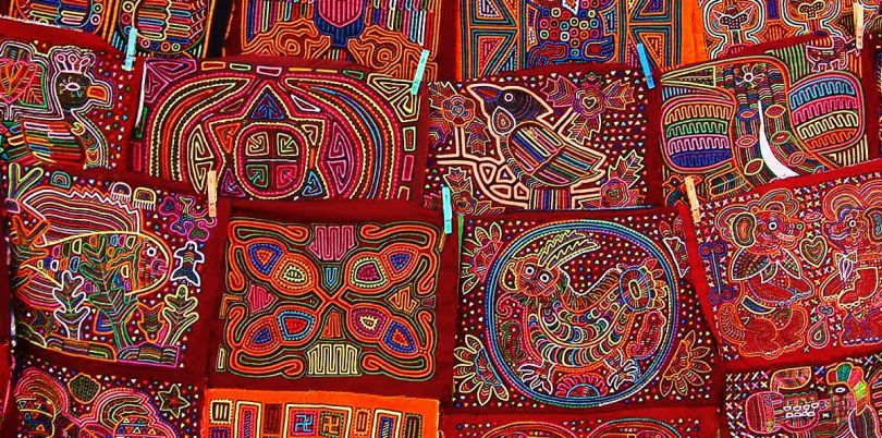 Colourful embroidery in Panama