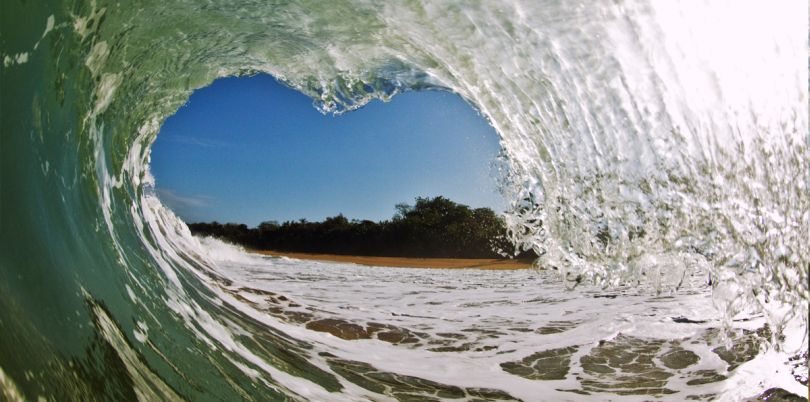 Heart wave at Panama's coastline