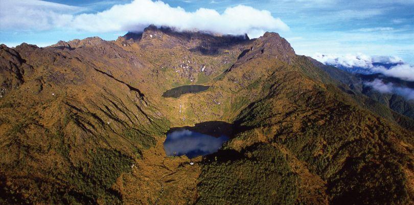 Volcano lake in Papua New Guinea