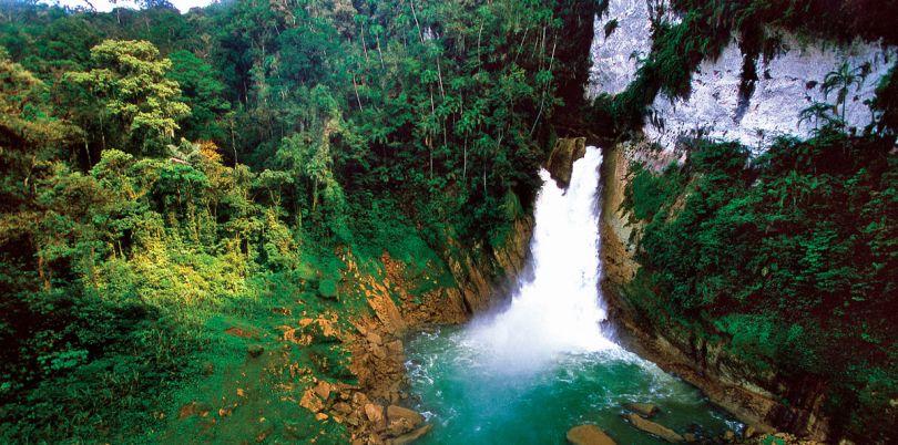 Waterfall in Papua New Guinea