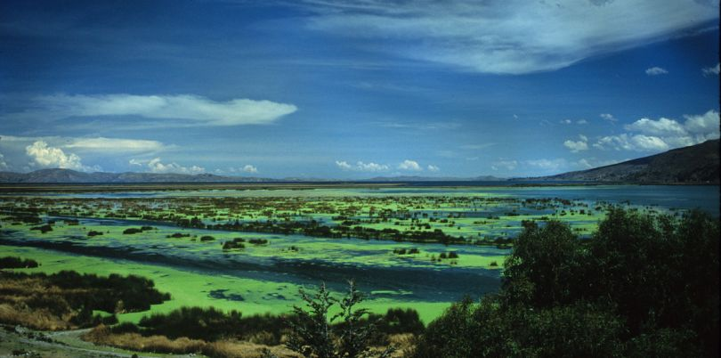 Peruvian lake landscape