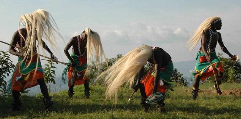 Intore dancing tribe in Rwanda
